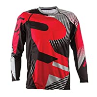 Austinstore Outdoor Motorcycle Motocross MTB Bike Cycling Jersey Unisex Long Sleeve T-Shirt - Red XXL