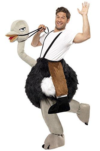 Imagen de disfraz peluche de avestruz con fausses piernas talla única