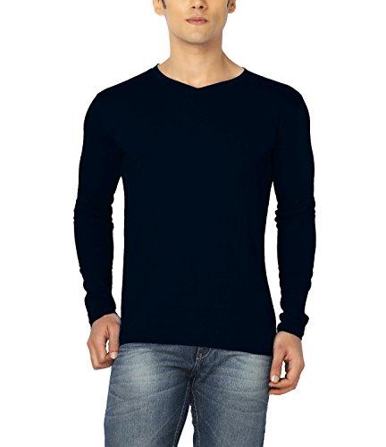 Joke Tees Solid Men's Perfect Vee Long T-Shirt(Navy Blue) (XX-Large)