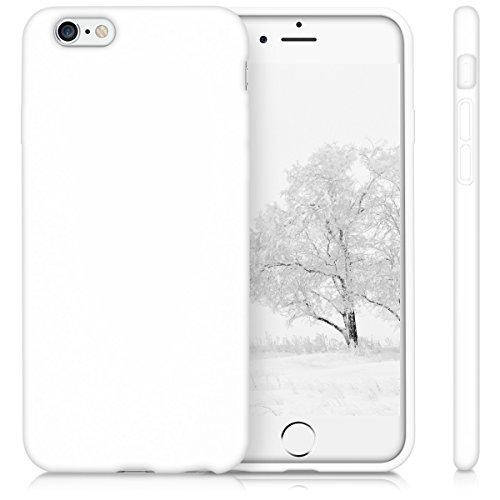 kwmobile Hülle für Apple iPhone 6 / 6S - TPU Silikon Backcover Case Handy Schutzhülle - Cover Rot matt .Weiß matt