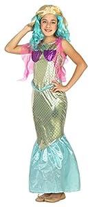 Atosa-22204 Disfraz Sirena, color dorado, 7 a 9 años (22204)