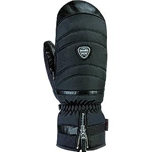 Snowlife Skihandschuhe Damen beheizbar mit Heizsäckli zudem extra warm Dank Primaloft Isolationsmaterial im edlen Design mit Lederinnenhand Super Soft Heated Mitten