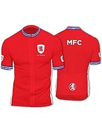 BSK Middlesbrough Club Cut Mens Short Sleeve Cycle Jersey Cycling Shirt Top d02878cb4