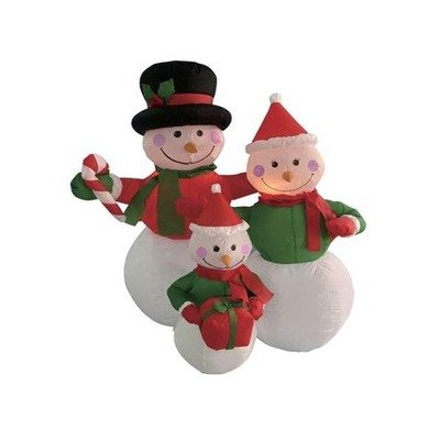 4 Foot Inflatable Snowmen Family Holding