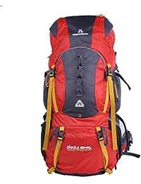 MLveen morral al aire libre del bolso del bolso del alpinismo hombres bandolera mochila de senderismo 75L Profesional Macutos de senderismo ( Color : Rojo , Tamaño : 65+10L )