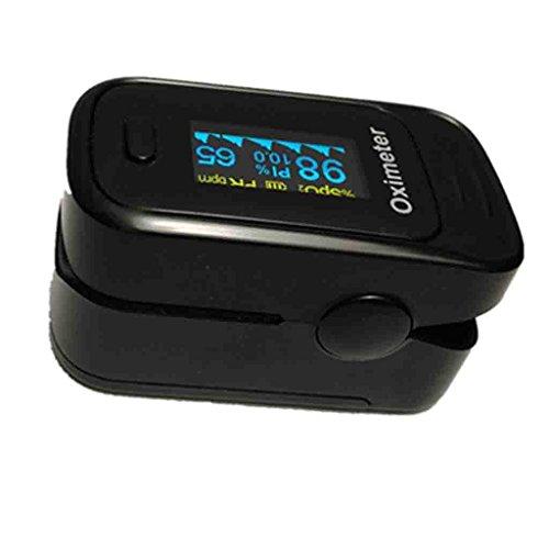 FFNNG Saturimetro da dito Saturimetro portatile con display OLED Convenienza Monitoraggio anti-interferenze Misuratore della frequenza cardiaca di ossigeno Smart Risparmio energetico