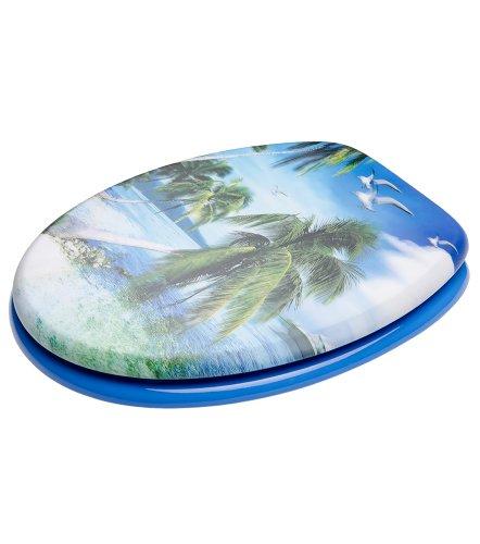 Sanilo WC Sitz mit Absenkautomatik 3D-Paradise | hochwertige Oberfläche | einfache Montage | stabile Scharniere   A642927