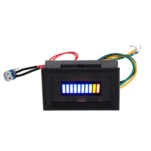 BIlinli 12V Universal Motorrad Auto Ölwaage LED Öl Kraftstoffstand Anzeige