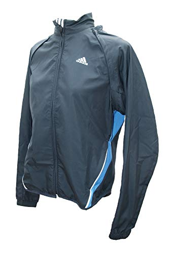 adidas Response Convertible Wind Jacket Women,Dark Slate/Aura Blue, Größe:38 Womens Convertible Wind Jacket