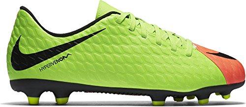 Nike Unisex-Kinder Jr. Hypervenom Phade 3 Fg Fußballschuhe, Grün (Elctrc Green/Black-Hyper Orange-Volt), 38 EU -