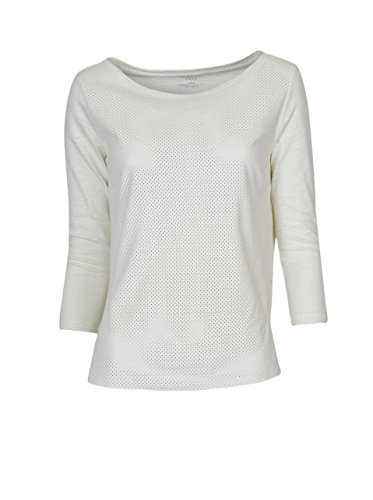 Majestic Damen Shirt Aus Wildleder in Creme-Weiss 108 milk