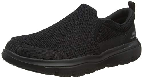 Skechers mens Go Walk Evolution Ultra Impeccable, Black Black Textile Bbk, 42.5 EU, 8 UK