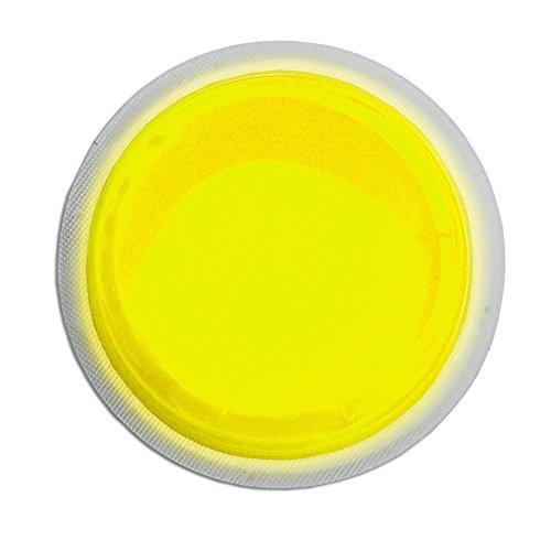 Cyalume LightShape Leuchtmarkierer ringförmig in Gelb (100-er Pack) - Leuchtdauer 4h - selbstklebender Leuchtmarkierer mit 8cm Durchmesser - per Druck aktiviert - für Evakuierungen, Triage, Markierungen