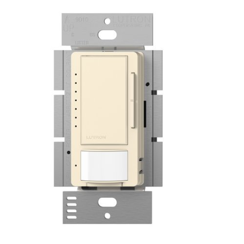Lutron Maestro LED Dimmer switch with motion sensor, no neutral required, MSCL-OP153M-ES, Eggshell by Lutron