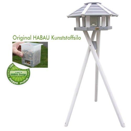 habau-2518-vogelhaus-ottawa-mit-silo-und-staender-grau-weiss-3