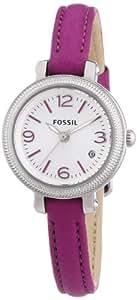 Fossil Damen-Armbanduhr XS Heather Analog Quarz Leder ES3334