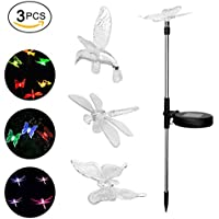[Patrocinado]Solar Led Lawn Garden Light Color cambiante Butterfly & Dragonfly & Hummingbird Estaca Light Garden Colorida luz decorativa para exterior Pathway Patio Paisaje Decoración Light Wireless Patio trasero Valla Decorative Bird Path Gardens