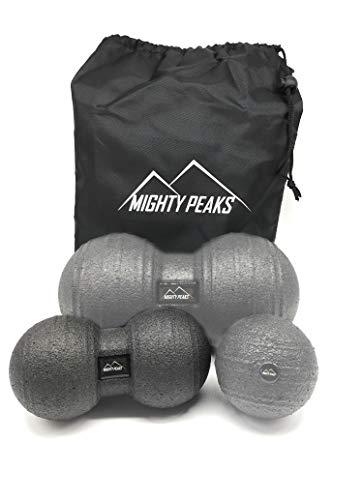 MIGHTY PEAKS Faszien-Rolle Faszien-Ball Massage-Ball Massage-Rolle für Yoga-, Pilates-, Muskel- und Faszien-Training