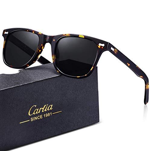 Carfia Polarisierte Herren Sonnenbrille UV 400 Schutz Sportbrille für Autofahren Fahrrad Angeln Golf