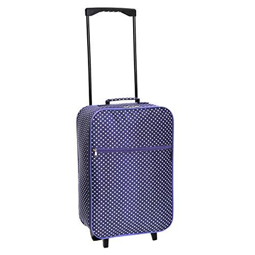 Slimbridge Barcelona bagaglio leggero a mano, Viola Pois
