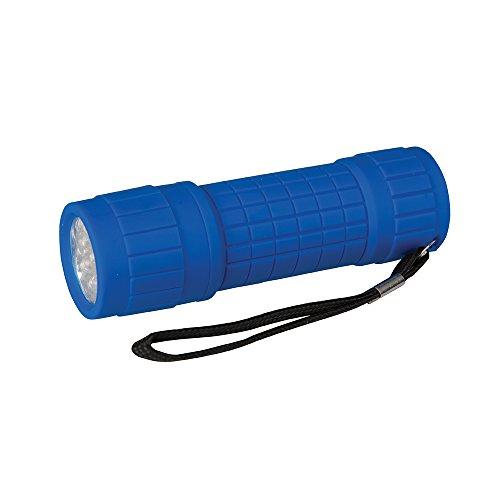 Silverline 226596 LED-Taschenlampe mit Weichgriff 9 LEDs 9 Led-taschenlampen