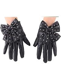 ec01fe08ef80c6 ysister Punk Nieten Bowknot PU Leder Handschuhe Winter warme Mode Damen  fahren Handschuhe Niet Nachtclub Bogen Kunstleder PU…