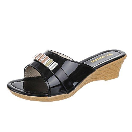 Chaussures pour enfants, C de 7–3, Sandales Mules à talons Noir - Noir