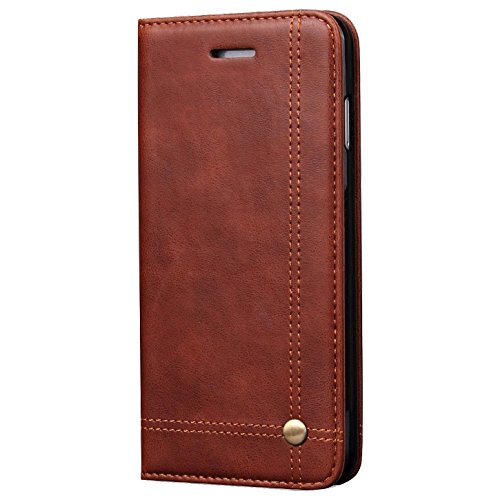 Deer Magnetic Auto Lock Flip Cover For Apple Iphone 6 - Brown