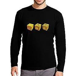 Camiseta Esponja de Menger para Hombre Negro XL