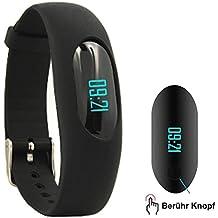 Willful SW307-BK-DE7-F, Willful Fitness Armband Schrittzähler Uhr Ohne Bluetooth Fitness Tracker Aktivitätstracker mit Schlafüberwachung, Kalorienzähler, Entfernung für Damen Herren Outdoor-Rennen Gehen (Ohne APP Handy)