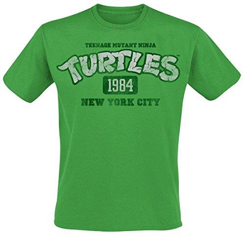 Teenage Mutant Ninja Turtles NY 1984 T-Shirt grün (Hoodie Mutant Teenage Turtles Ninja)