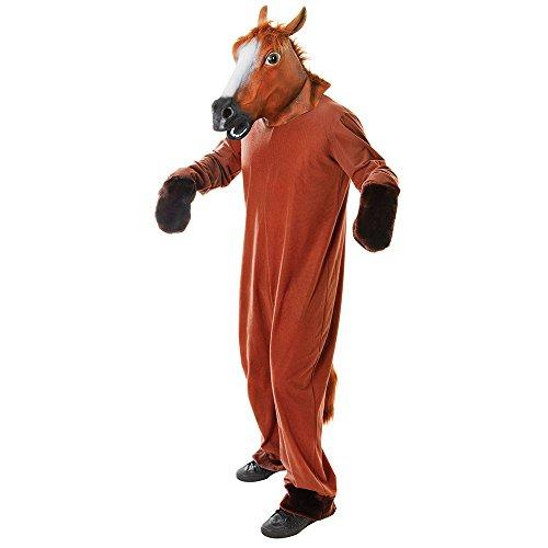 Bristol Novelty AC417 Pferd Kostüm, Medium, Unisex- Erwachsene, Mehrfarbig, M