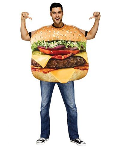 Cheeseburger Kostüm Deluxe für Fasching & Karneval One Size (Erwachsene Cheeseburger Kostüme)