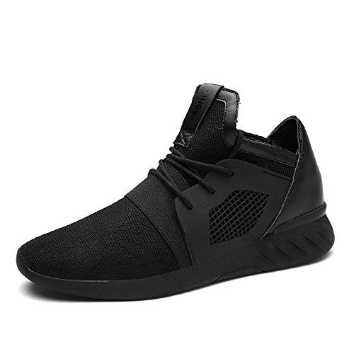 XIANV Sommer Herren Sneaker Mode Casual Schuhe Soft Breathable Mesh Frühjahr Lace-up Männer Schuhe Bequeme Schuhe Männer (40, schwarz)