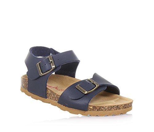 BIONATURA - Blaue Sandale aus Leder, ausschließlich made in Italy, aus hochwertigen Materialien, Jungen-35
