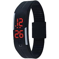 Unisex Children Rubber LED Watch Date Sports Bracelet Digital Wrist Watch