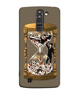 PrintVisa Designer Back Case Cover for LG K7 :: LG K7 Dual SIM :: LG K7 X210 X210DS MS330 :: LG Tribute 5 LS675 (Graphic Clock Antique Creative Background Backcover)