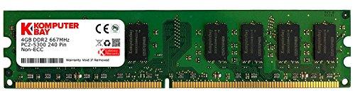 Komputerbay 4GB DDR2 DIMM (240 PIN) 667Mhz PC2 5400 PC2 5300 4 GB Desktop-Speicher -