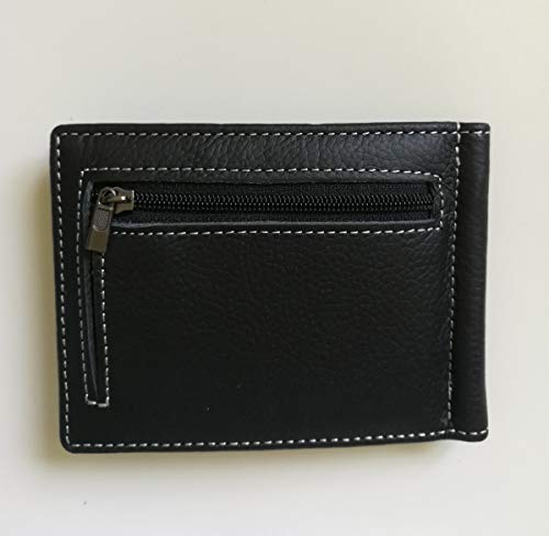 00dfeb678 Mens Wallet Leather with Coin Pocket, Soft Genuine Leather Bifold Wallets  with Money Clip Gift
