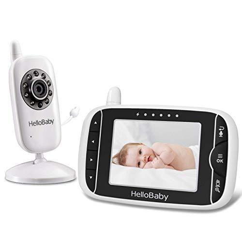 HelloBaby - Monitor de vídeo para bebé con cámara y Audio, Protege a Tus bebés con visión Nocturna...