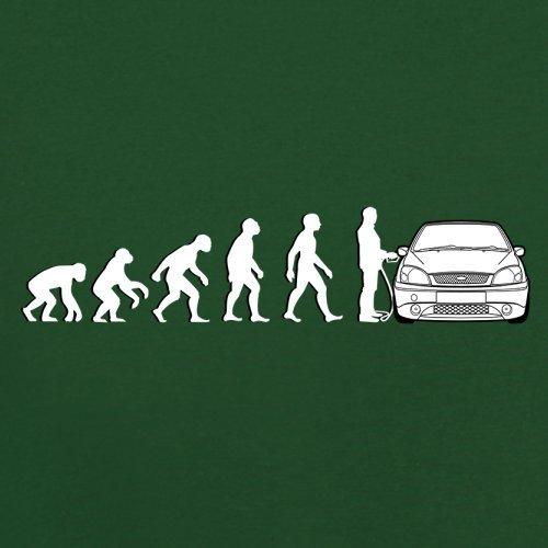 Evolution of Man - Fiesta Fahrer - Herren T-Shirt - 13 Farben Flaschengrün