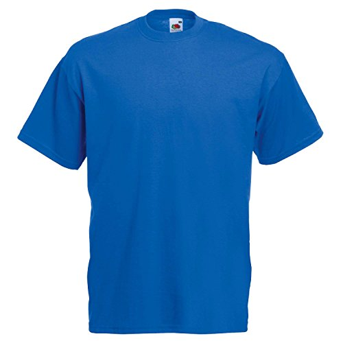 Fruit of the Loom T-Shirt (Valueweight), 27 Farben, kleine bis - Royal Blue - M - Coole T-shirts Uk