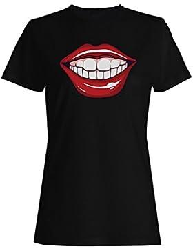 Me besa los labios rojos ama la novedad divertida camiseta de las mujeres f381f