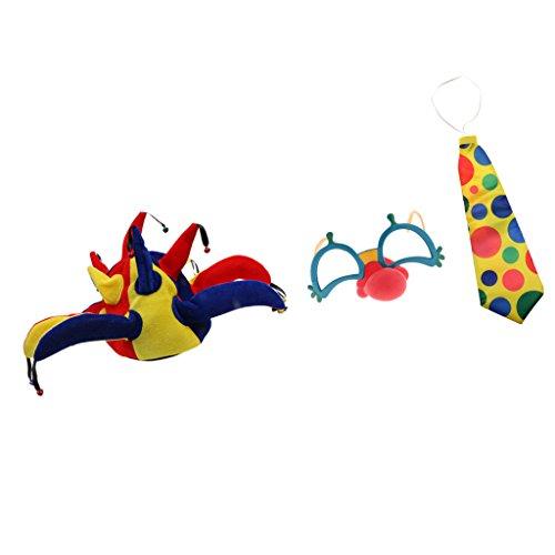 own Rote Nase Party Brille Jumbo Tupfen Krawatte Clown Jester Joker Hat Hallowmas Fancy Kleid Zubehör (Jumbo Clown Brille)