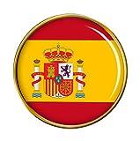Bandera de España Redondo Prendedor Pin
