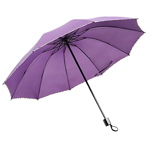 106a9a0ff LMMA Umbrella Automatik One-Button Open Umbrella Business Teleskop Schwarz  Plastik Sonnenschirm Dach Zehn Knochen