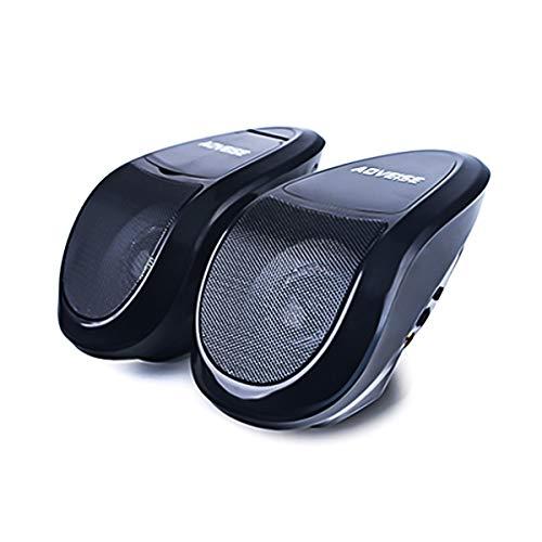 HaiQianXin 12 V Motorrad Bluetooth MP5 FM Audio Radio Sound System Stereo SUPER BASS Lautsprecher Mit Eingebautem Verstärker Wasserdicht (Color : Black)