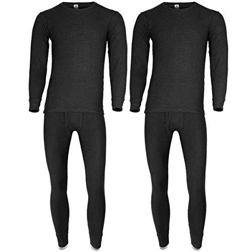 Black Snake Thermounterwäsche   2er Set   Herren Thermo Unterwäsche Set   langarm Unterhemd + lange Unterhose - Anthrazit - 7/XL -