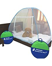 Classic Mosquito Net Foldable Single Bed Blue