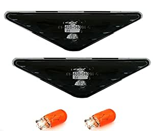 AD Tuning Jeu de feux clignotants latéraux pour Ford Focus MK1 / Mondeo MK3 Noir/verre transparent